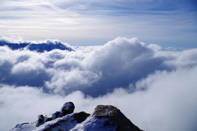 Festiwal chmur na szczycie
