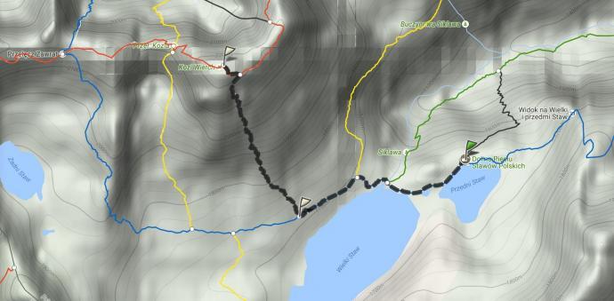 Mapa Kozi Wierch