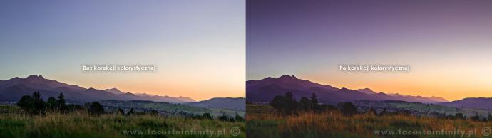 Korekcja kolorystyczna - Przed i po