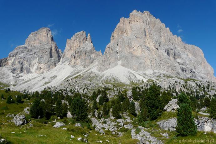 Sassolungo to najmniejsza samodzielna grupa Dolomitów.