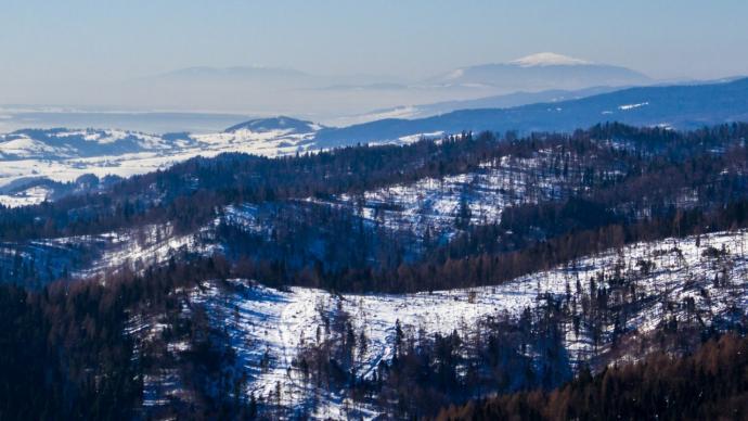 Beskid Zywiecki na horyzoncie