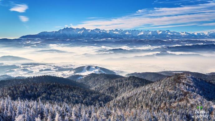 Panorama Tatr z Lubania jest wprost fantastyczna