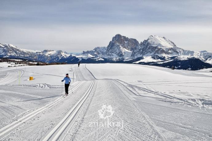 Narty biegowe w Dolomitach na Alpe di Siusi