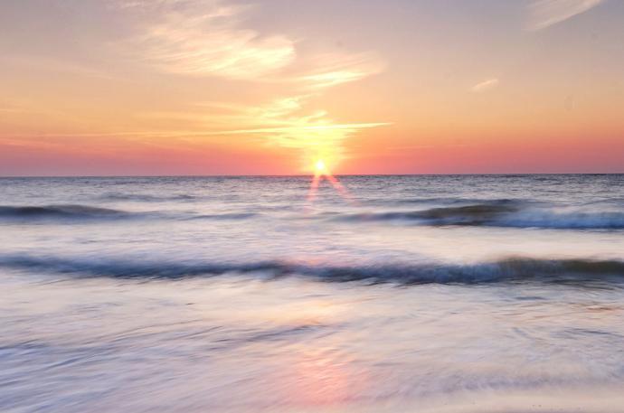 Zachód Słońca bez pierwszego planu