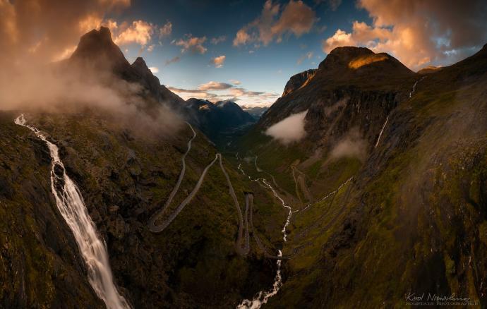 Fot. Karol Nienartowicz, Trollstigen – Droga Trolli, Norwegia