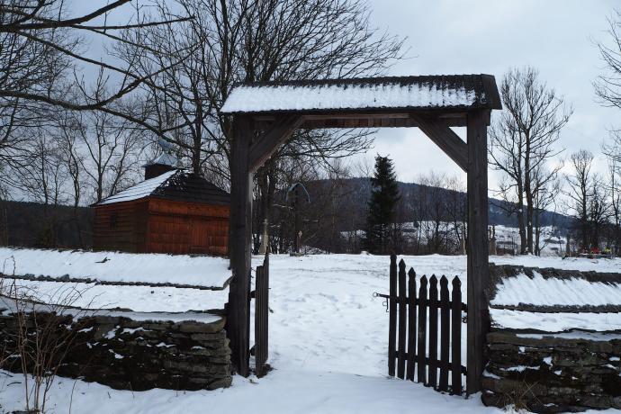 O dawnej wsi przypomina połemkowski cmentarz