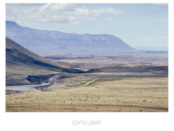 Step - droga w stronę jeziora Viedma i dalej do El Calafate