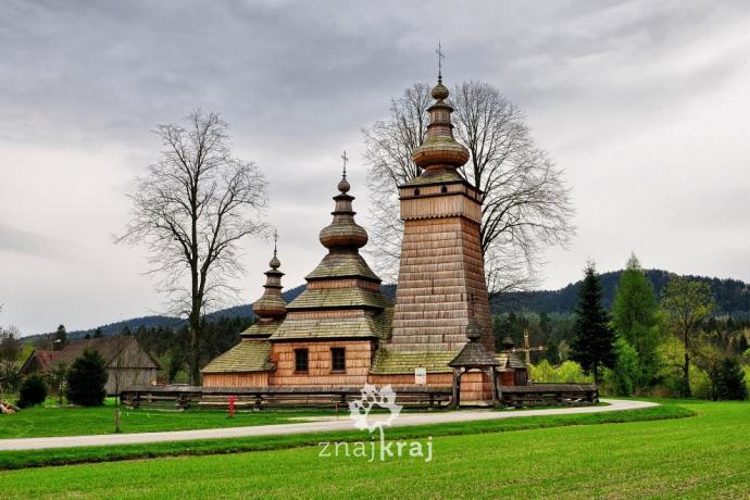 Cerkiew w Kwiatoniu w Beskidzie Niskim. Fot. Szymon Nitka - Znajkraj