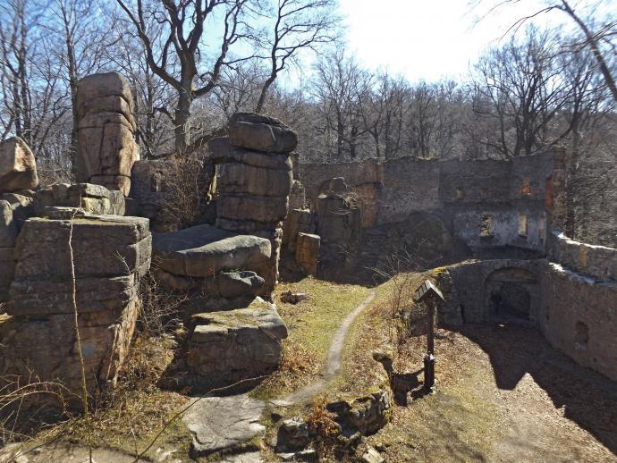 Zamek Bolczów from inside