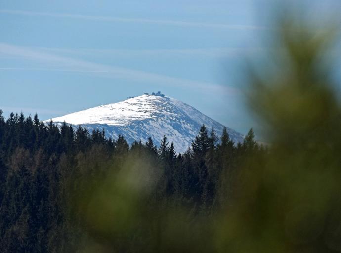 Bolczowskie widoki na Śnieżkę