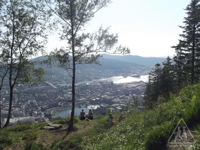 Widok z góry Fløyen