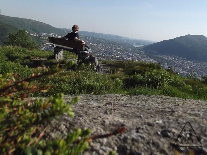 Podziwiając panoramę Bergen :)