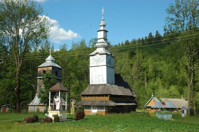 Typowa zakarpacka cerkiew