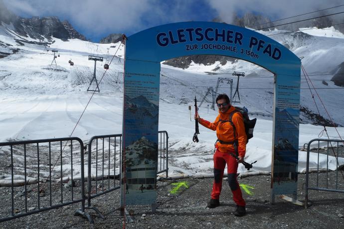 Ścieżka przez Schaufelferner - spacer po lodowcu dla każdego!