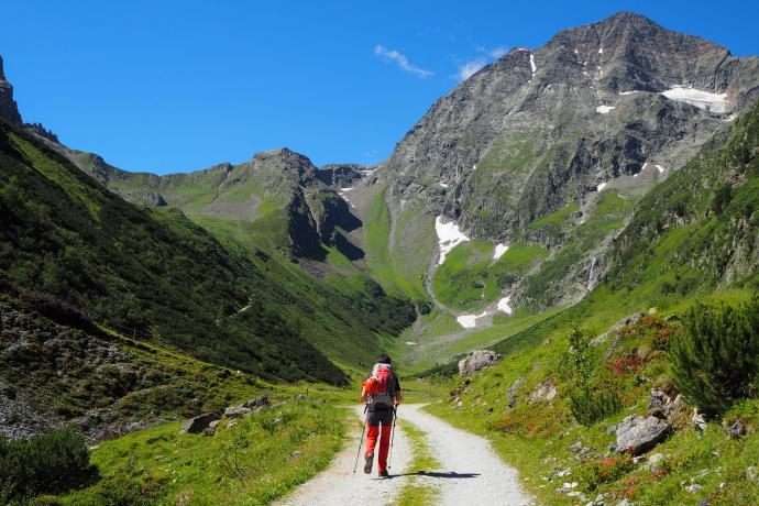 Pod grań Ilmspitze dochodzimy doliną Pinnistal.