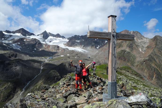 Ferratą Fernau dochodzimy na szczyt Egesengtrat (2631 m n.p.m.)