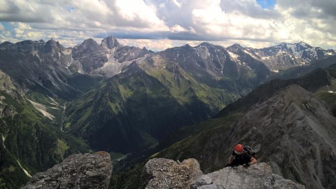 Na szczyt Ilmspitze jeszcze tylko dwa kroki!