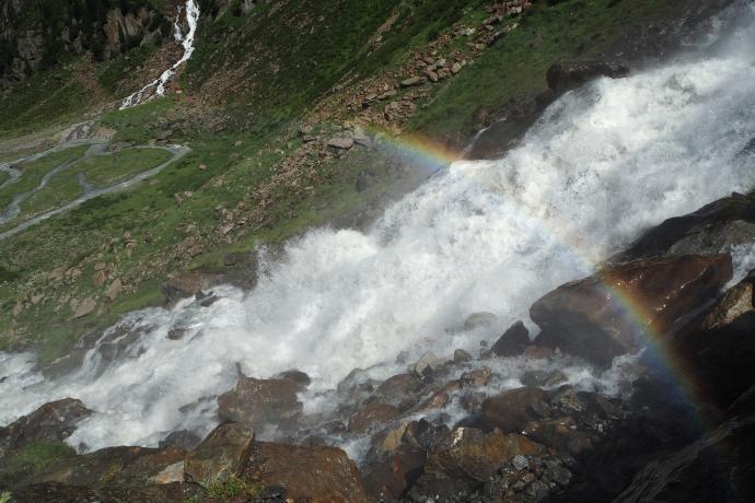 To jeden z najwyższych wodospadów w Alpach Wschodnich