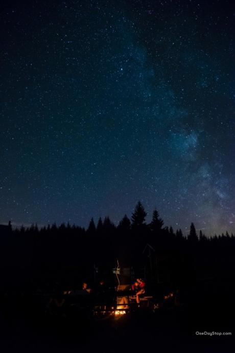 Niebo w Izerach nocą