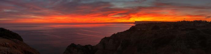 Płonące chmury - panorama