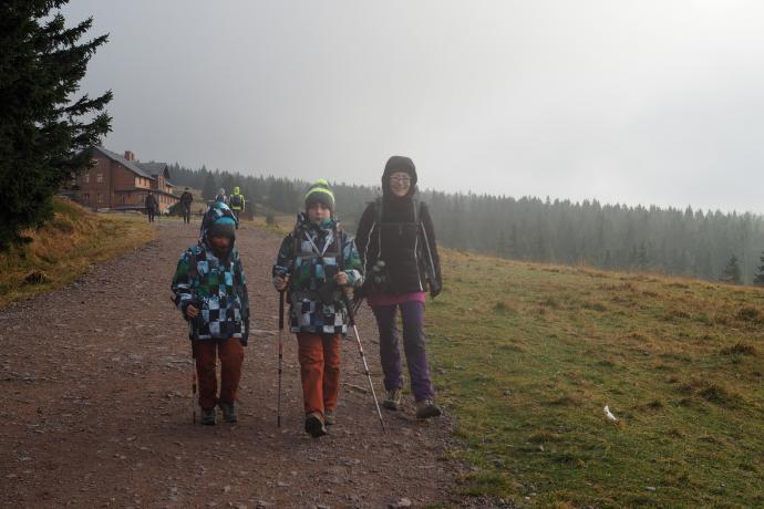 Schodzimy w kierunku Przełęczy Śnieżnickiej
