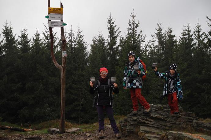 Kowadło - najwyższy szczyt polskich Gór Złotych (989 m n.p.m.) - zdjęcie do książeczek KGP:)