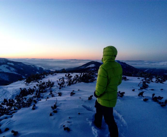 zachód słońca na Grzesiu