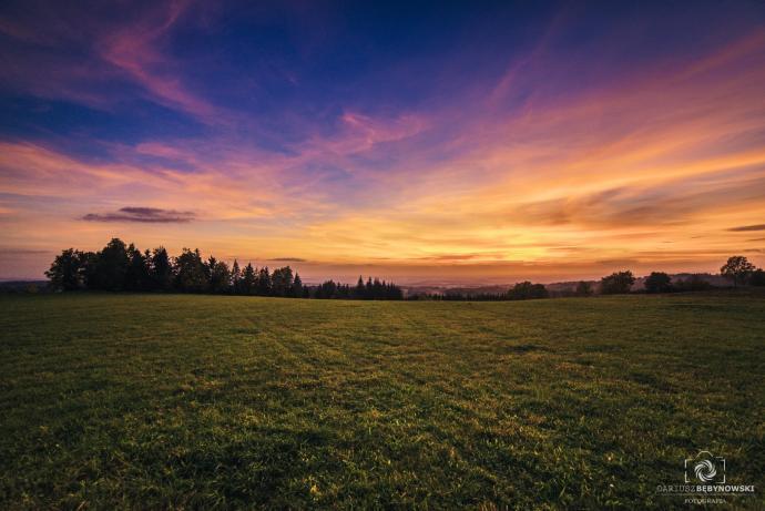 Zachód słońca - Góry Orlickie