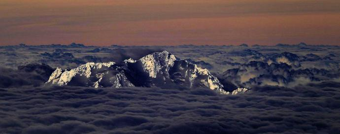 Widok z powietrza na Nanga Parbat