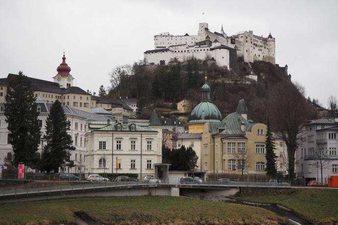 Warownia Hohensalzburg to jeden z największych średniowiecznych zamków w Europie