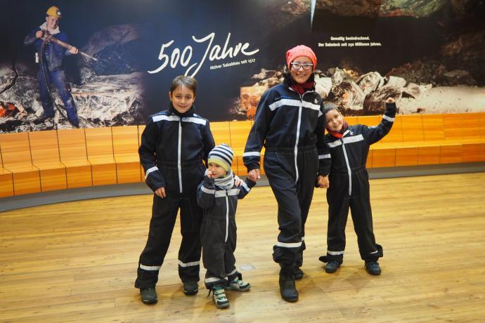 Nie, nie, to nie rodzinna wyprawa na księżyc, tylko wizta w kopalni soli Berchtesgaden