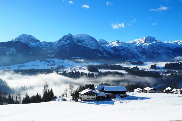 Z okolicy Abtenau możemy podziwiać masyw Tennengebirge w całej okazałości