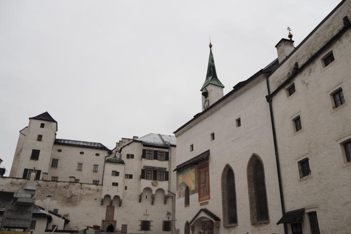 Widok na górny zamek