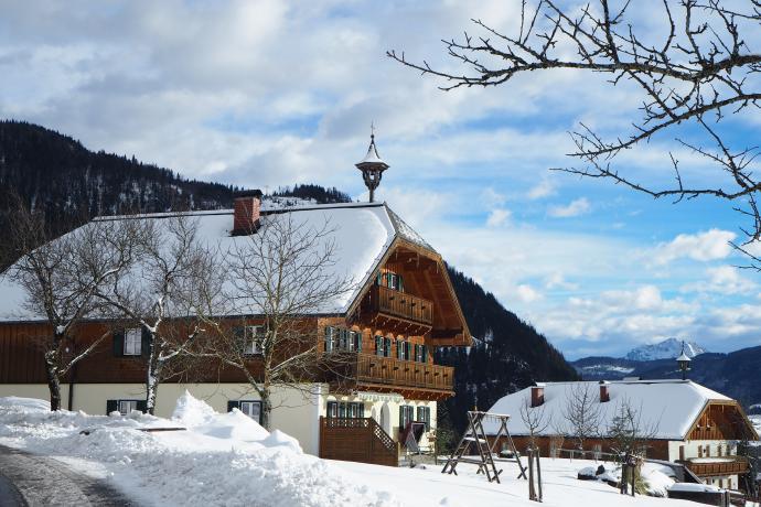 Piękne tradycyjne domy w przysiółku Wagner