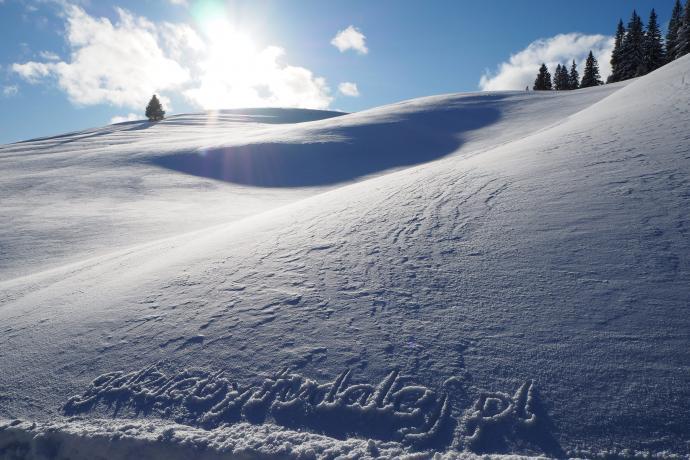 Jeśli zawędrujemy tu w słoneczny zimowy dzień, znajdziemy się w raju!
