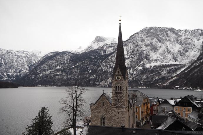 Drugą świątynią Hallstatt jest XIX-wieczny kościół protestancki