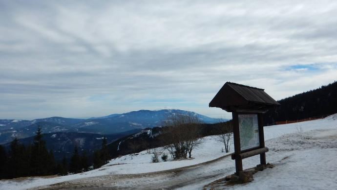widok na Babią Górę z Hali Miziowej