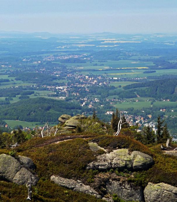 Z widokiem na Czechy... i dalej Niemcy.