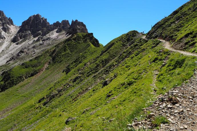 Przed nami przełęcz Pinnisjoch.