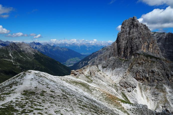 Przed nami widać już nasz cel - szczyt Ilmspitze (2692 m n.p.m.)