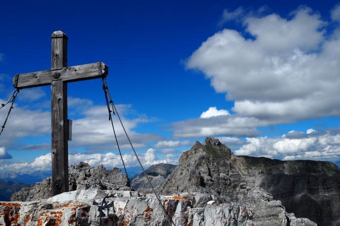 Na szczycie Ilmspitze (2692 m n.p.m.).