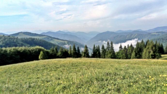przepiękna panorama gór spod Ploskiej