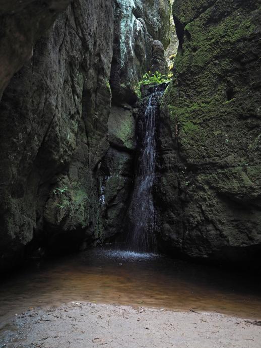 Mały Wodospad... jest mały.