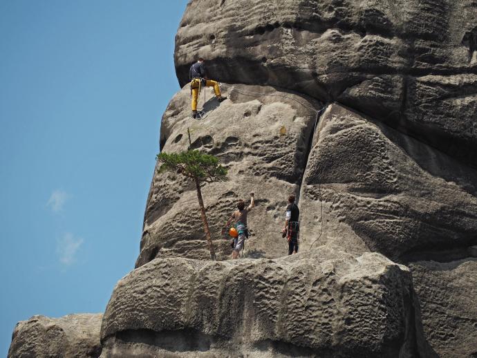 Starosta i Starościna to idealne miejsca na wspinaczkę.