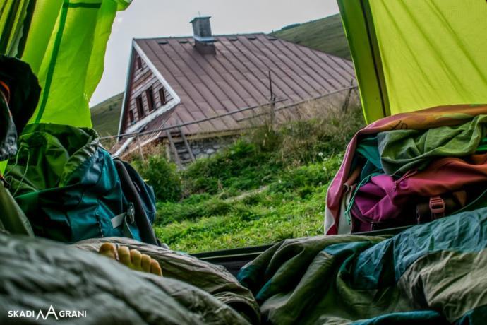 Widok z namiotu.