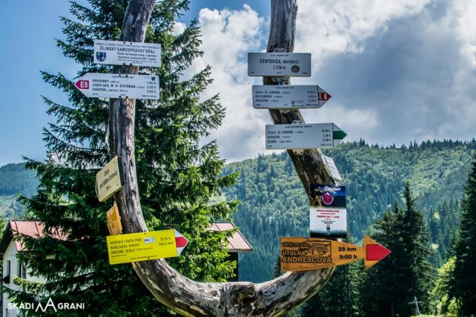 Przełęcz Čertovica 1238 m n.p.m