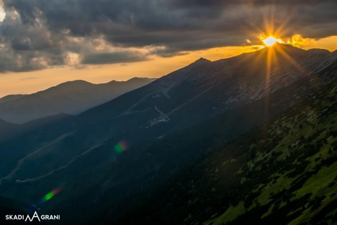 Zachód słońca nad Chopokiem.