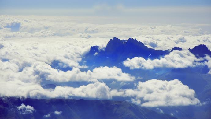 Widok ze szczytu Kazbeku (Chaukhi).