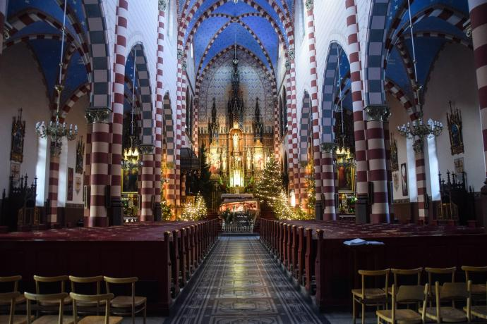Wnętrze kościoła salezjanów