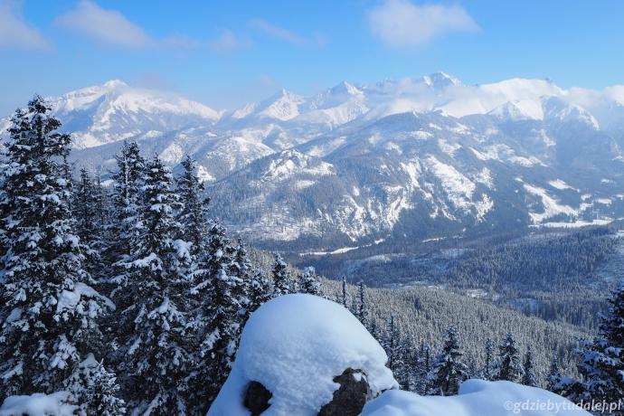 Na horyzoncie majaczą słowackie szczyty z kulminacją Lodowego